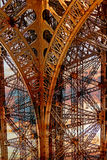 Rusty background  with Eiffel tower 9 Stock Photography