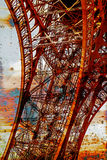 Rusty background  with Eiffel tower 13 Royalty Free Stock Photo