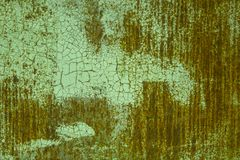 Rusty background. Rusty metallic surface covered with old cracked paint Royalty Free Stock Images