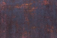 Rusty background. Old rusty metal sheet. Red rusted wall of the garage. Brown Grunge texture. royalty free stock photography