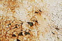 Rusty background. Old Peeling Paint on Rusty Metal Grunge Background Stock Photos