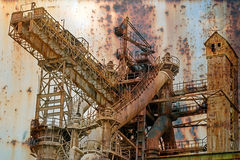 Rusty background with old steel furnace Royalty Free Stock Photos