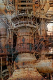 Rusty background with old steel furnace Royalty Free Stock Photo