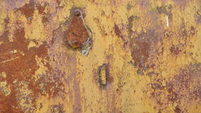 Rusty background. Rusty painted background with peephole Stock Photography