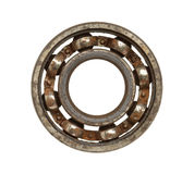 Rusty ball bearing. Isolated on white background Royalty Free Stock Photography