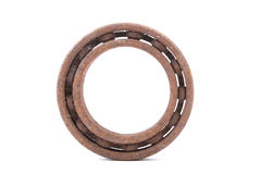 Rusty ball bearing on a white background Stock Image