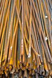 Rusty bar construction iron in bulk. Can be background stock image