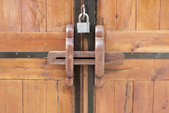 Rusty bar locks. Stock Image