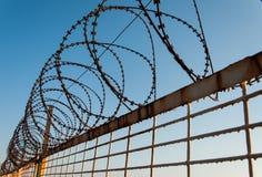 Rusty Barb Wire foto de stock