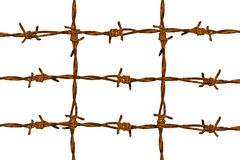 Rusty barbed Stock Photography