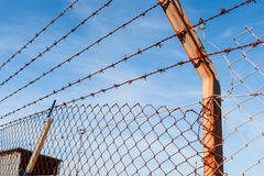 Rusty barbed wire Royalty Free Stock Photography