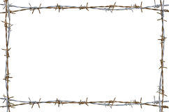 Rusty barbed wire Stock Image