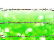 Rusty barbed wire Stock Photos