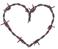 Rusty barbed wire heart Royalty Free Stock Image