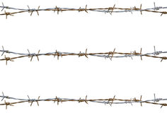 Rusty barbed wire. Isolated on white Royalty Free Stock Images