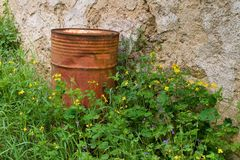 Rusty barrel Royalty Free Stock Photography