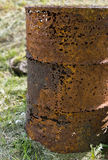 Rusty barrel with holes Royalty Free Stock Image