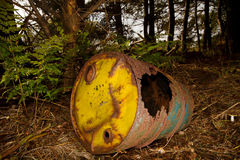Rusty barrel Stock Image