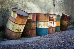 Rusty barrels Royalty Free Stock Photo