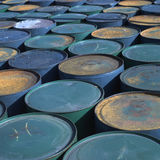 Rusty barrels Stock Images