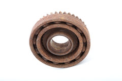 The rusty bearing and gear Stock Images