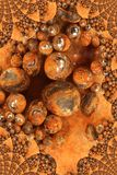 Rusty Bearings. Photo of rusty bearings turned into a fractal design stock photos
