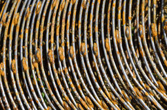 Rusty bends of reinforcing bar Royalty Free Stock Photo