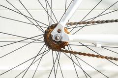 Rusty Bicycle Chain Maintenance y reparaciones Imágenes de archivo libres de regalías