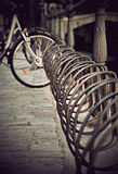 Rusty bicycle rack Royalty Free Stock Images