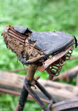 Rusty bike saddle, completely destroyed Royalty Free Stock Photos