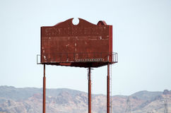 Rusty Blank Sign or Billboard Royalty Free Stock Photography