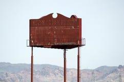 Rusty Blank Sign ou quadro de avisos fotografia de stock royalty free