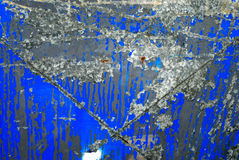 Rusty blue background. Rusty metal texture pattern plate blue background Stock Photo