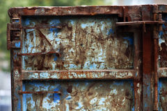 Rusty blue container Stock Image