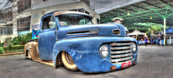 Rusty blue Ford pickup truck Royalty Free Stock Images