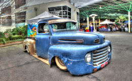 Rusty blue Ford pickup truck Royalty Free Stock Photos