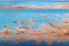Rusty Blue. Rusty metal with blue paint Stock Photography