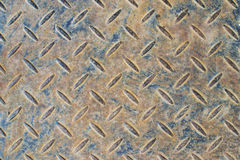 Rusty blue patterned steel sheet Royalty Free Stock Images