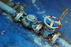 Rusty Blue Pipes Royalty Free Stock Photo