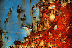 Rusty. Blue and red on a old rusty truck Royalty Free Stock Images