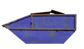 Rusty blue skip Stock Photo