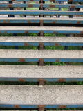 Rusty blue stairs. Rusty stairs on a railway station painted blue stock images