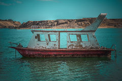 Rusty boat is destroyed Stock Photo