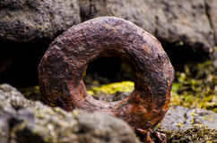 Rusty Boat Ring Stock Afbeeldingen