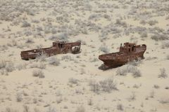 Free Rusty Boats Of The Aral Sea Stock Photos - 114489173