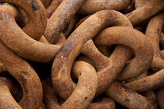 Rusty boatyard chain 3. Chunky, rusty boatyard chain background Stock Photography