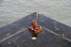 Rusty bollard Royalty Free Stock Image