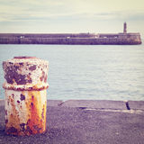 Rusty Bollard Stock Photography