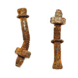 Rusty bolt and nut Stock Images