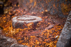 Rusty bolt and nut Royalty Free Stock Images